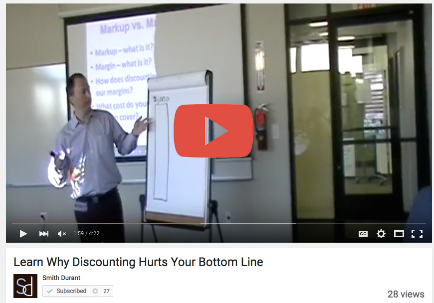 Learn Why Discounting Hurts Your Bottom Line - Smith Durant