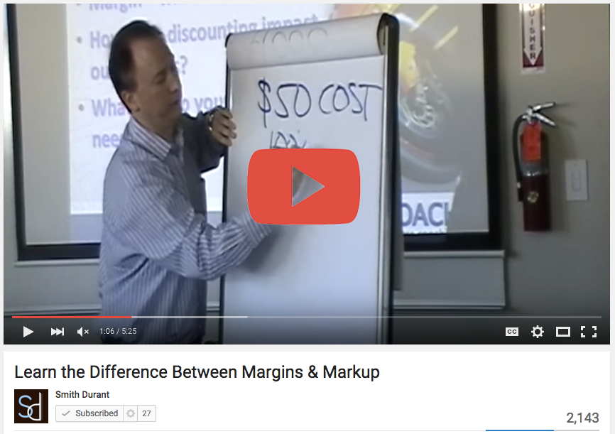 Learn the Difference Between Margins & Markups - Smith Durant